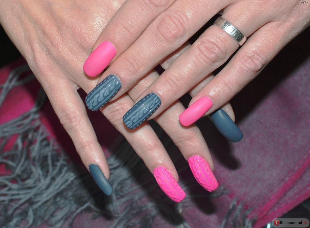 Матовые фото ногтей гелем